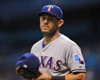 "Illustration for article titled Ian Kinsler On Rangers GM: ""Daniels Is A Sleazeball"""