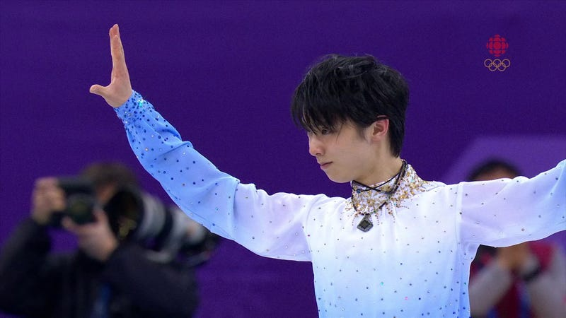Illustration for article titled Yuzuru Hanyu Skated Masterfully And Then Winnie The Pooh Bears Rained Down On The Ice