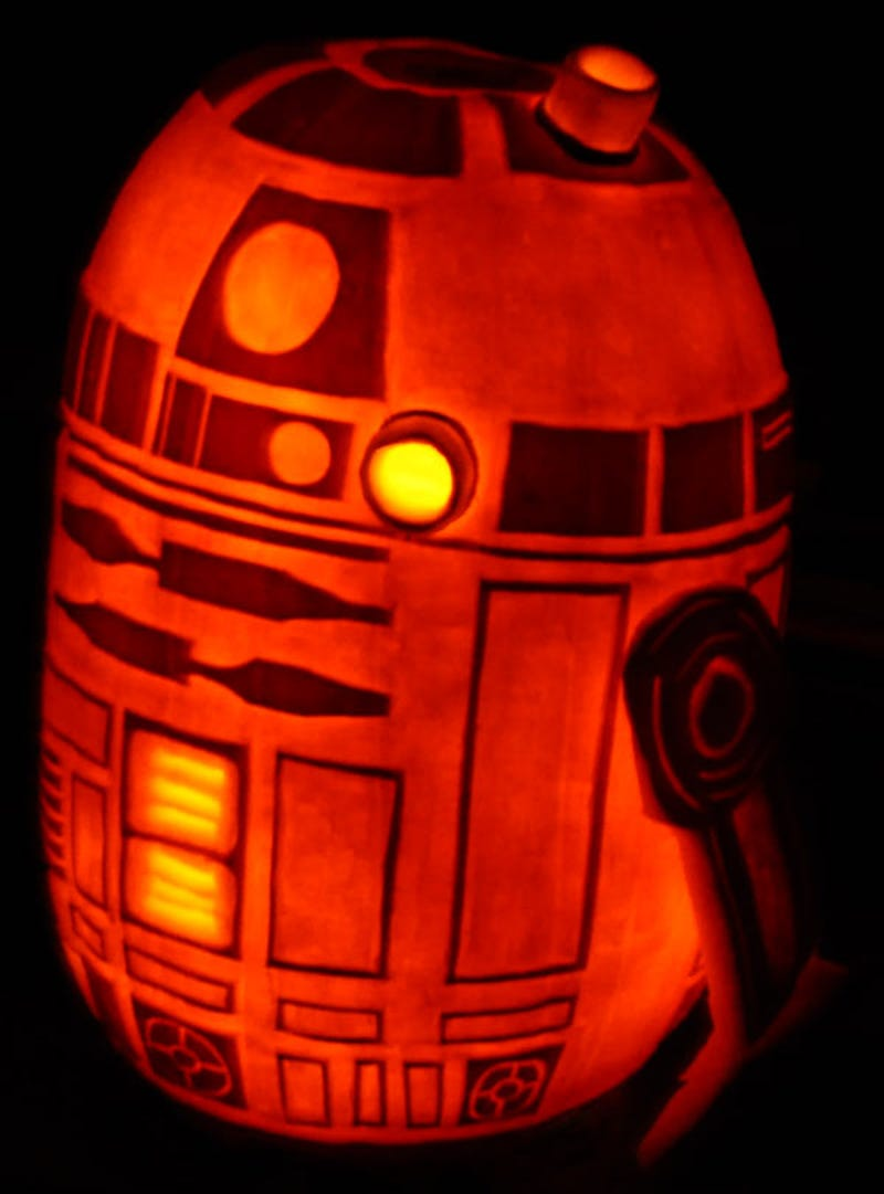 the amazing r2d2 pumpkin from the creator of the death star pumpkin