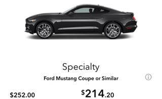 "Illustration for article titled Anyone Ever Rent a ""Mustang Coupe or Similar"" from Avis? (OK, I Rented It & Pre-Paid)"