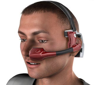 Illustration for article titled Kopin Golden-i Headset's Microdisplay Puts A 15-Inch Virtual Computer In Yo' Face