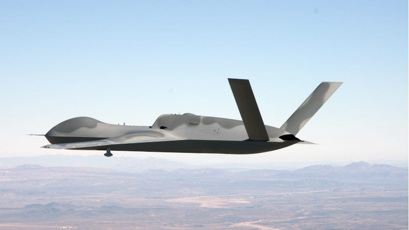 Illustration for article titled The Military's Newest Drone Can Roam Up to 1800 Miles From Home