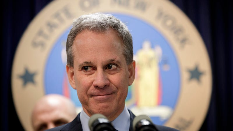 New York state Attorney General Eric Schneiderman takes questions during a news conference in New York City. (Photo: Getty)