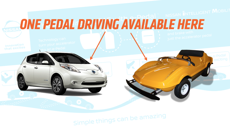 Illustration for article titled Nissan Is Introducing Single Pedal Driving Like In An Amusement Park Car