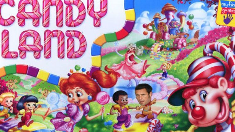 """Illustration for article titled That Candy Land movie is now """"that Candy Land movie with Adam Sandler"""""""