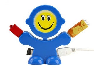 Illustration for article titled Smiling USB Hub Tries to Brighten Up Your Day
