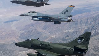 Historic Photo Shows 3rd, 4th and 5th Generation Combat Jets In Formation