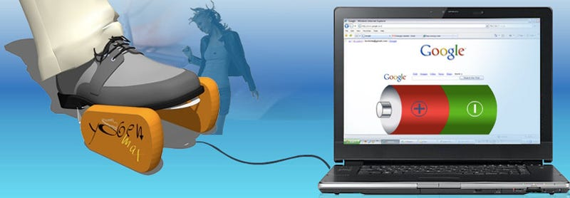 Illustration for article titled Yogen Max Charges Laptops with Feet