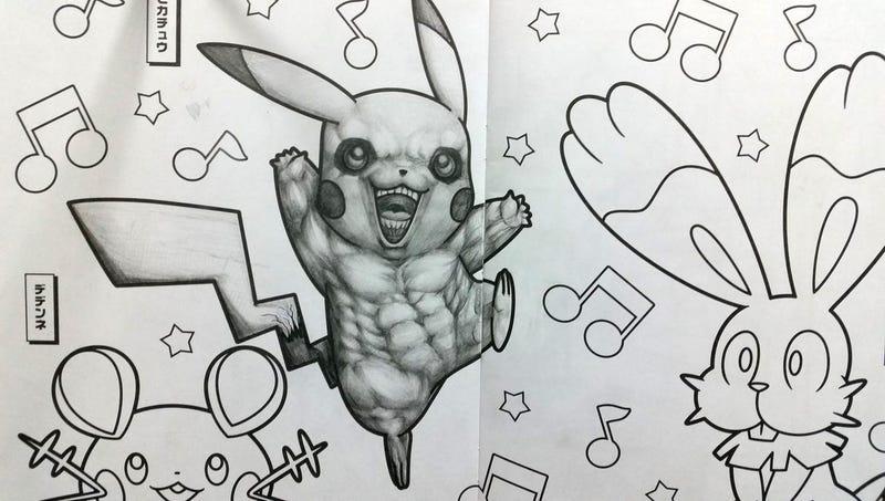 Si crees que colorear pokémon es una actividad inocente, es que no ...