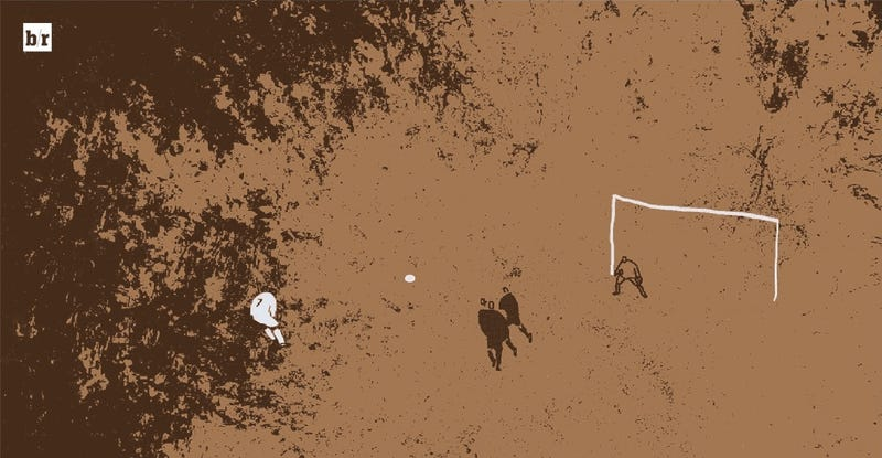 Illustration for article titled These Animated Soccer Highlights Are Super Cool
