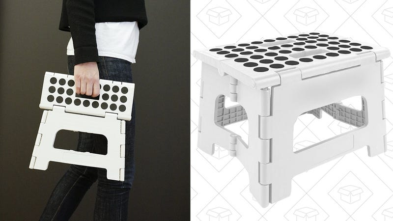 This 9 Folding Step Stool Belongs In Every Garage And Pantry