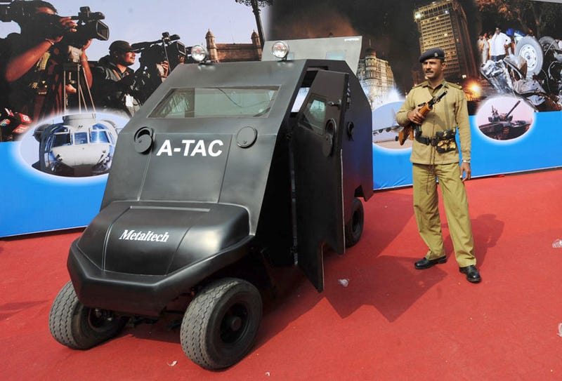 Illustration for article titled India Builds Anti-Terrorist Armored Electric Golf Cart