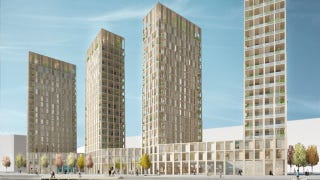 Illustration for article titled High-Rises Made Of Wood Might Actually Be Good To Look At