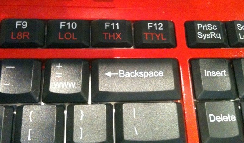 Illustration for article titled At Last, A Keyboard With A LOL Button