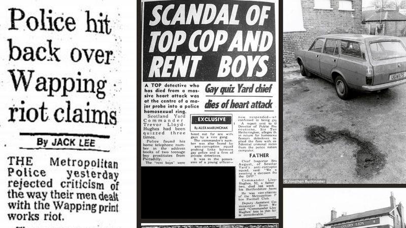 News clippings about Daniel Morgan's murder in 1987 (Screenshot: UntoldMurder.com)