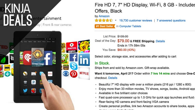 Amazon Shrugs, Decides to Sell the Kindle Fire HD 7 for $79 Today