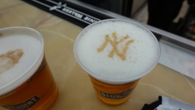 Illustration for article titled Yankees can't put player faces in beer foam without express written consent of Major League Baseball