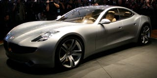 Illustration for article titled Detroit Auto Show: Fisker Karma Luxury Hybrid, Only $80,000