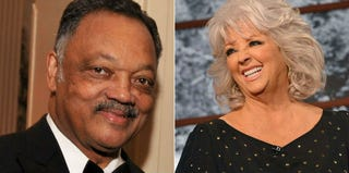 The Rev. Jesse Jackson (Stephen Lovekin/Getty Images); Paula Deen (Slavin Vlasic/Getty Images Entertainment)