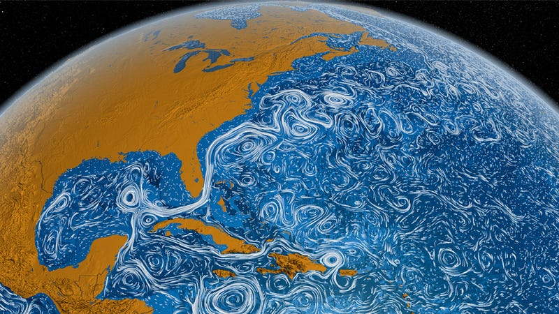 Illustration for article titled Time-Lapse of Ocean Currents Looks Like a Living Van Gogh Painting