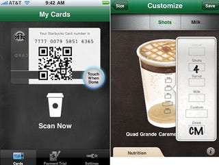 Illustration for article titled Starbucks App Uses Your iPhone to Pay for Lattes