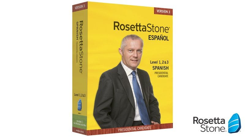 Illustration for article titled Rosetta Stone Offers New Spanish Language Course For Pandering Presidential Candidates