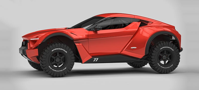 dubai automaker is cooking up this 39 practical 39 street legal sand car rally fighter fighter. Black Bedroom Furniture Sets. Home Design Ideas