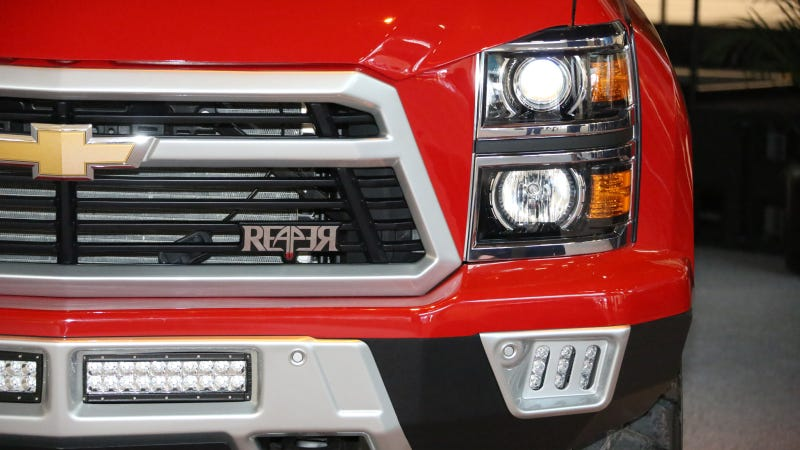 Illustration for article titled Chevy Silverado Reaper Might Have The Balls To Excuse Its Looks