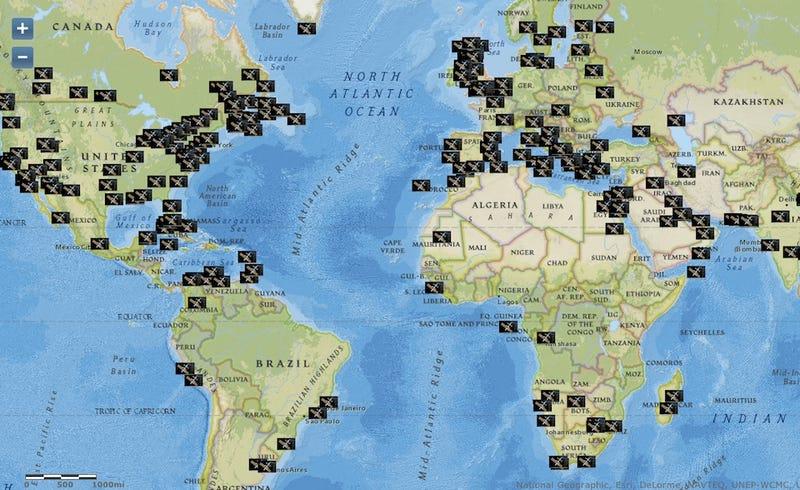 Illustration for article titled Este mapa interactivo te muestra el mundo desde la Estación Espacial Internacional