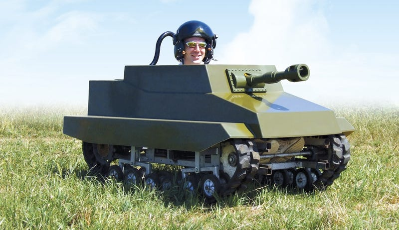 Illustration for article titled Paintball Panzer Converts You Into Backyard Rommel Wannabe