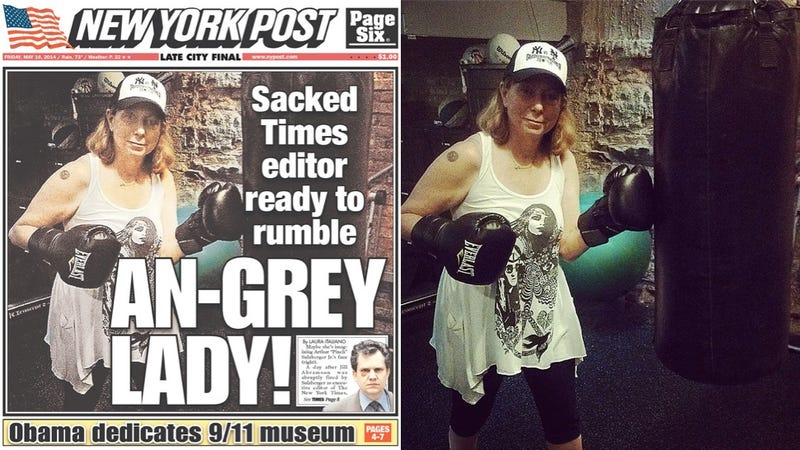 Illustration for article titled NY Post Wastes No Time Calling Jill Abramson 'Angry'