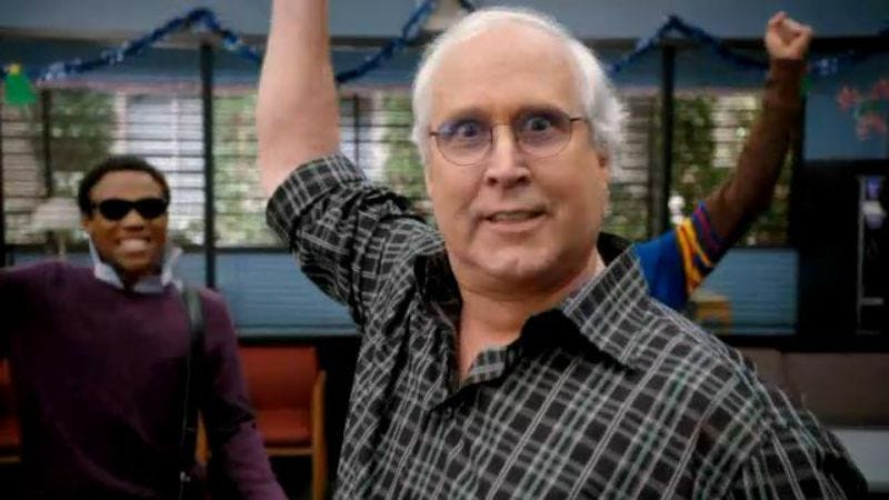 Illustration for article titled Community has a plan for its final Chevy Chase problem