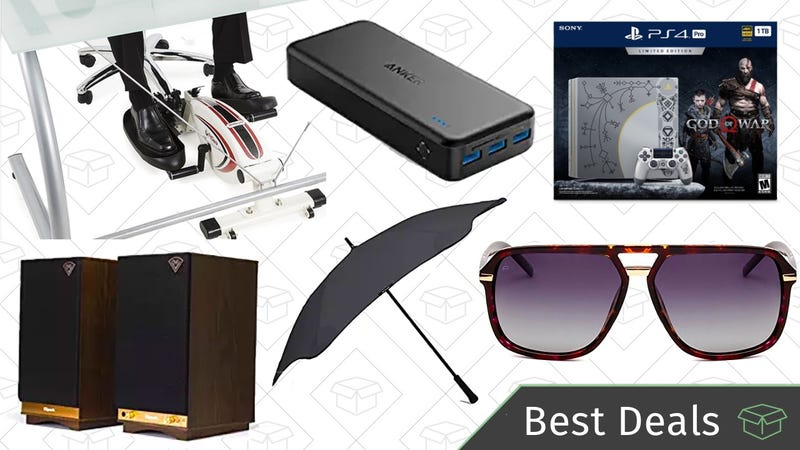 Illustration for article titled Wednesday's Best Deals: Anker PowerCore, Klipsch Speakers, Blunt Umbrellas, and More