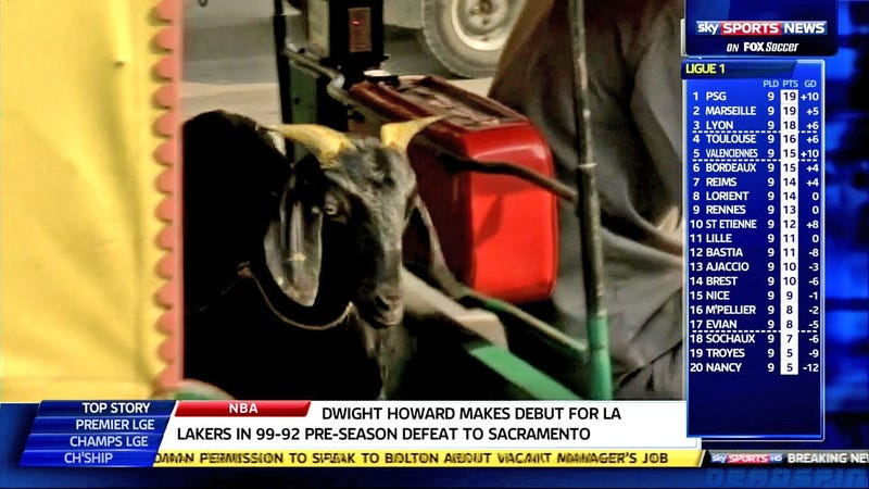 The Sky Sports News Top Story Is That Goat (Or Horse) Dwight Howard