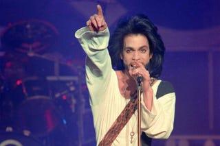 Prince performing in Paris in June 1990BERTRAND GUAY/AFP/Getty Images