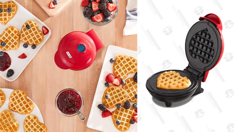 Dash Mini Maker Machine for Heart Shaped Individual Waffles | $7 | Amazon