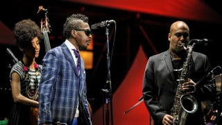 Esperanza Spalding, Roy Hargrove and Troy Roberts perform onstage April 30, 2014, at the 2014 International Jazz Day Global Concert in Osaka, Japan.Keith Tsuji/Getty Images for Thelonious Monk Institute of Jazz