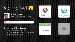 Illustration for article titled Springpad Adds Offline Access to Your Notes Through Their Chrome Webapp