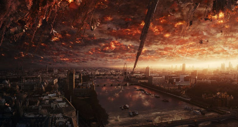 The sky is falling over London in Independence Day: Resurgence. Image: Fox