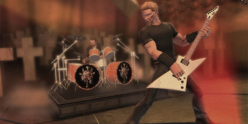 Illustration for article titled Lars Ulrich Is A Dirty, Rotten Guitar Hero III Cheater