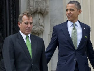 Rep. John Boehner (R-Ohio) with President Obama (Saul Loeb/AFP)