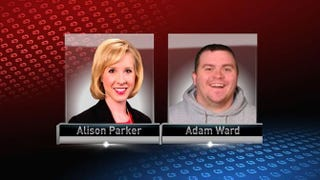 Journalists Alison Parker and Adam Ward were shot to death on live TV  in Virginia Aug. 26, 2015.WHO TV screenshot