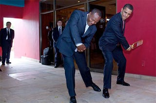 Illustration for article titled Photo of the Day: Obama Swings Cricket
