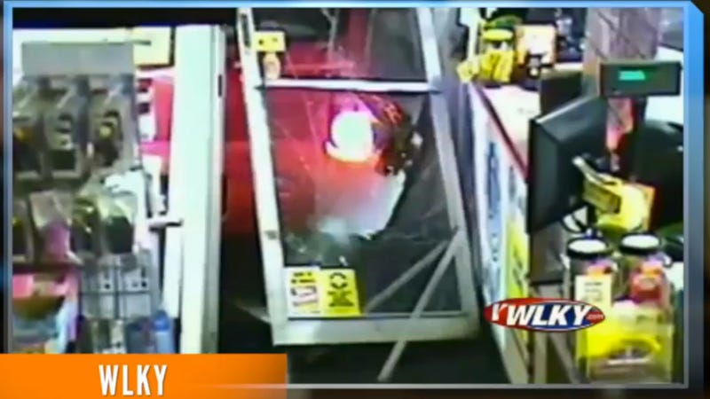 Illustration for article titled Woman Crashes Car Into Convenience Store To Steal 1,500 Lotto Tickets