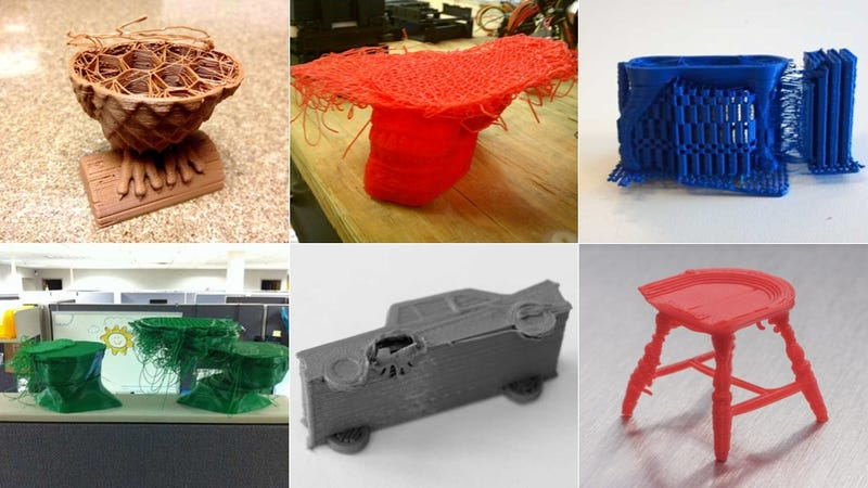 Illustration for article titled 11 Spectacular 3D Printer Failures