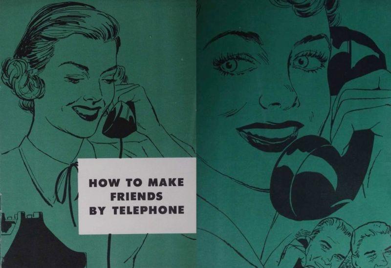 Illustration for article titled Este extraño manual de 1950 enseñaba a la gente cómo hablar por teléfono con buenos modales