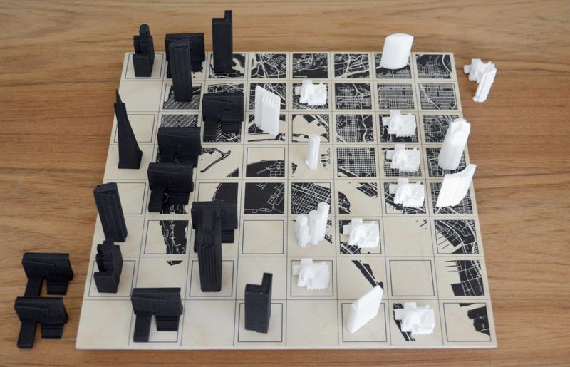 Illustration for article titled Custom Chess Sets Let You Play With Your Favorite City's Famous Landmarks
