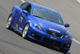 Illustration for article titled Street Legal Lexus IS-F Owns Dedicated Race Cars In Time Trials