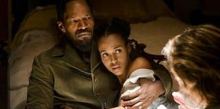 Movie still of Jamie Foxx and Kerry Washington (IMDB)