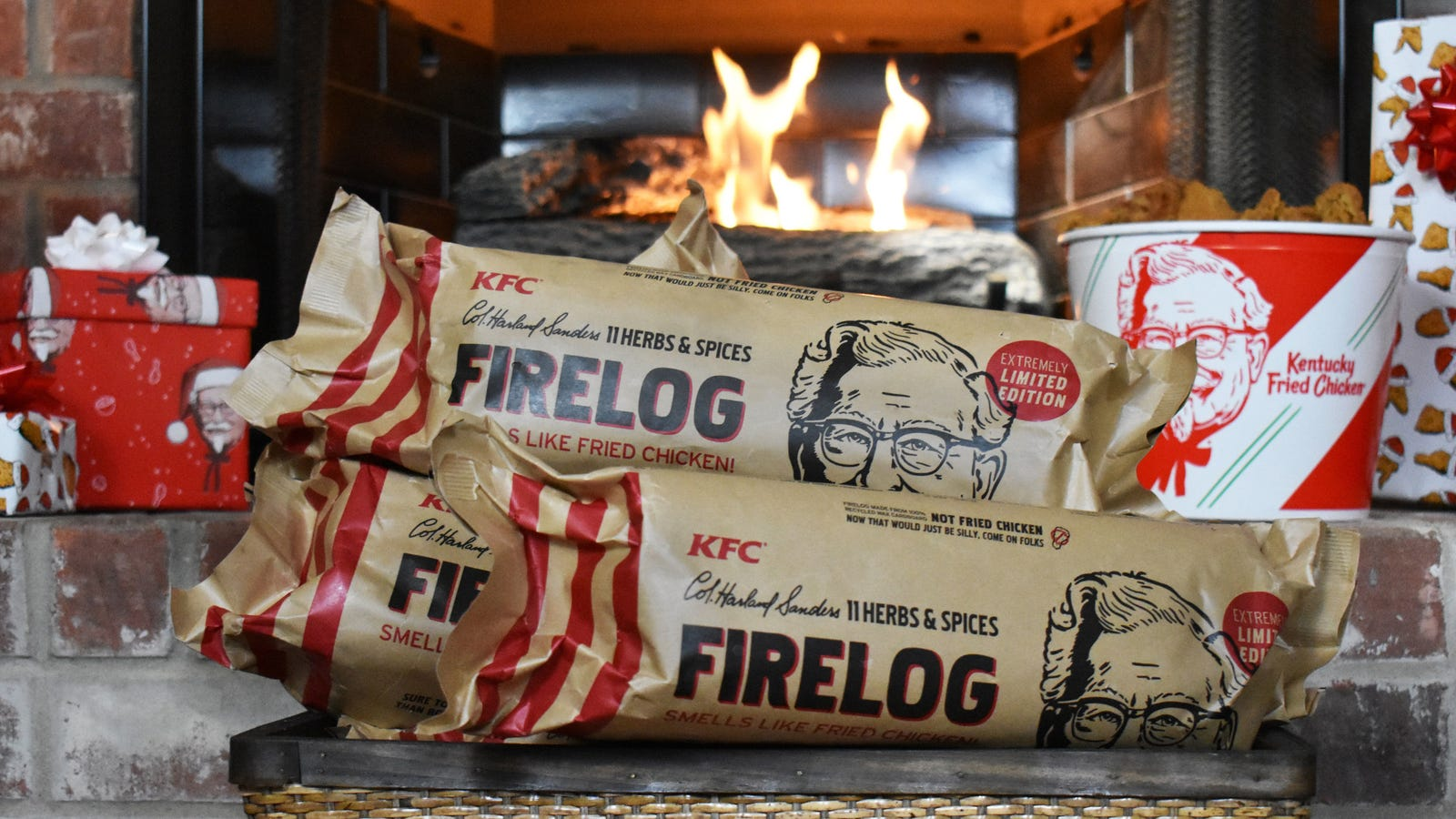 KFC assumes you're interested in purchasing this fried chicken-scented firelog